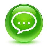 Ikona sklovité zelené kulaté tlačítko Talk