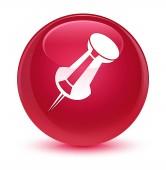 Kód pin ikonu sklovité růžové kulaté tlačítko