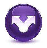 Podíl na ikonu sklovité fialové kulaté tlačítko