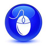 Ikona sklovité modré kulaté tlačítko myši
