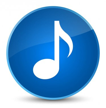 Music icon elegant blue round button