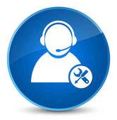 Tech podporu elegantní modré kulaté tlačítko