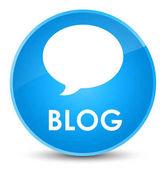 Blog (konverzaci ikona) elegantní azurová modrá kulaté tlačítko