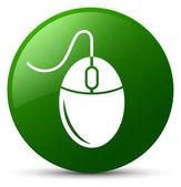 Zelená ikona myši kulaté tlačítko
