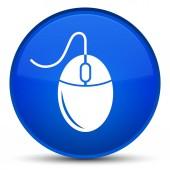 Ikona zvláštní modré kulaté tlačítko myši