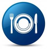 Jídlo deska ikona modré kulaté tlačítko