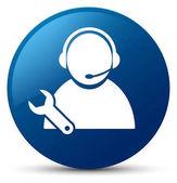 Tech podporu ikona modré kulaté tlačítko