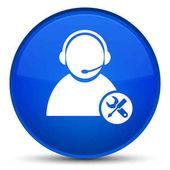 Tech podporu speciální modré kulaté tlačítko