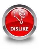 Nelíbí lesklé červené kulaté tlačítko