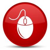 Ikona zvláštní červené kulaté tlačítko myši