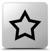 Ikonu hvězdičky bílé čtvercové tlačítko