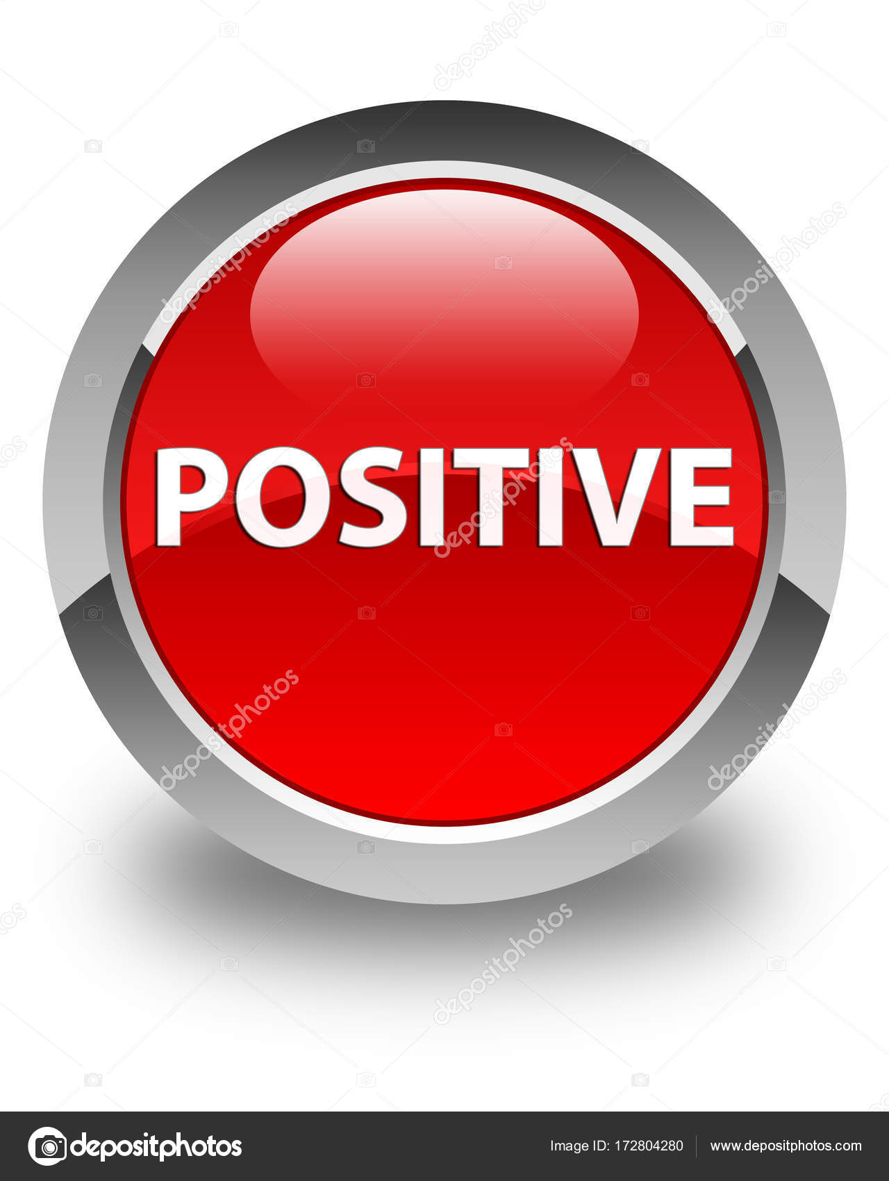 positive glossy red round button  u2014 stock photo  u00a9 fr design
