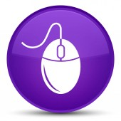 Ikona speciální fialové kulaté tlačítko myši