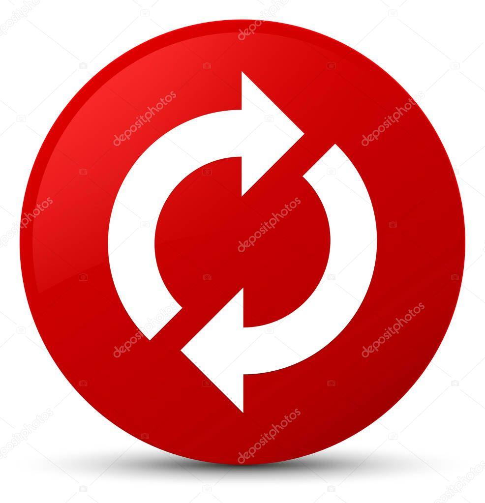 Update Icon Red Round Button