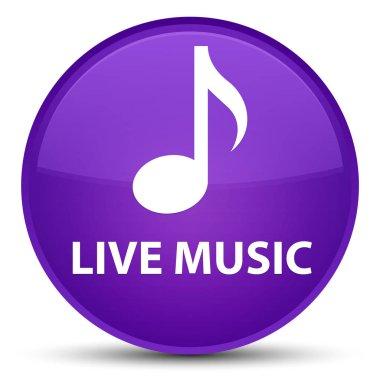 Live music special purple round button