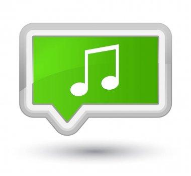 Music icon prime soft green banner button