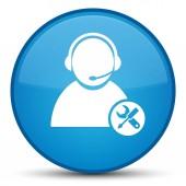 Technické podpory ikonu speciální azurová modrá kulaté tlačítko