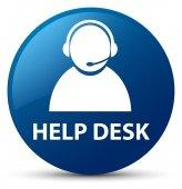 HelpDesk (zákaznické péče ikonu) modré kulaté tlačítko