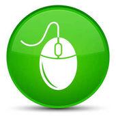 Ikona speciální zelené kulaté tlačítko myši
