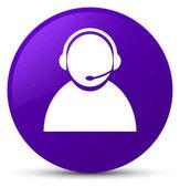 Zákaznické péče ikonu fialové kolo tlačítko