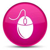 Ikona speciální růžové kulaté tlačítko myši