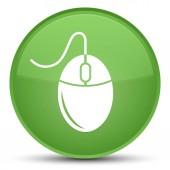 Ikona speciální měkké zelené kulaté tlačítko myši