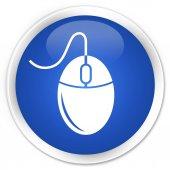 Myši ikonu premium modré kulaté tlačítko
