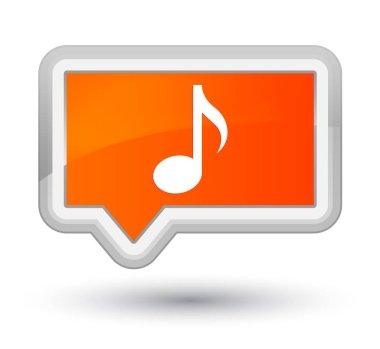 Music icon prime orange banner button