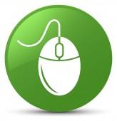 Ikonu měkký zelené kulaté tlačítko myši