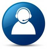 Zákaznické péče ikony modré kulaté tlačítko