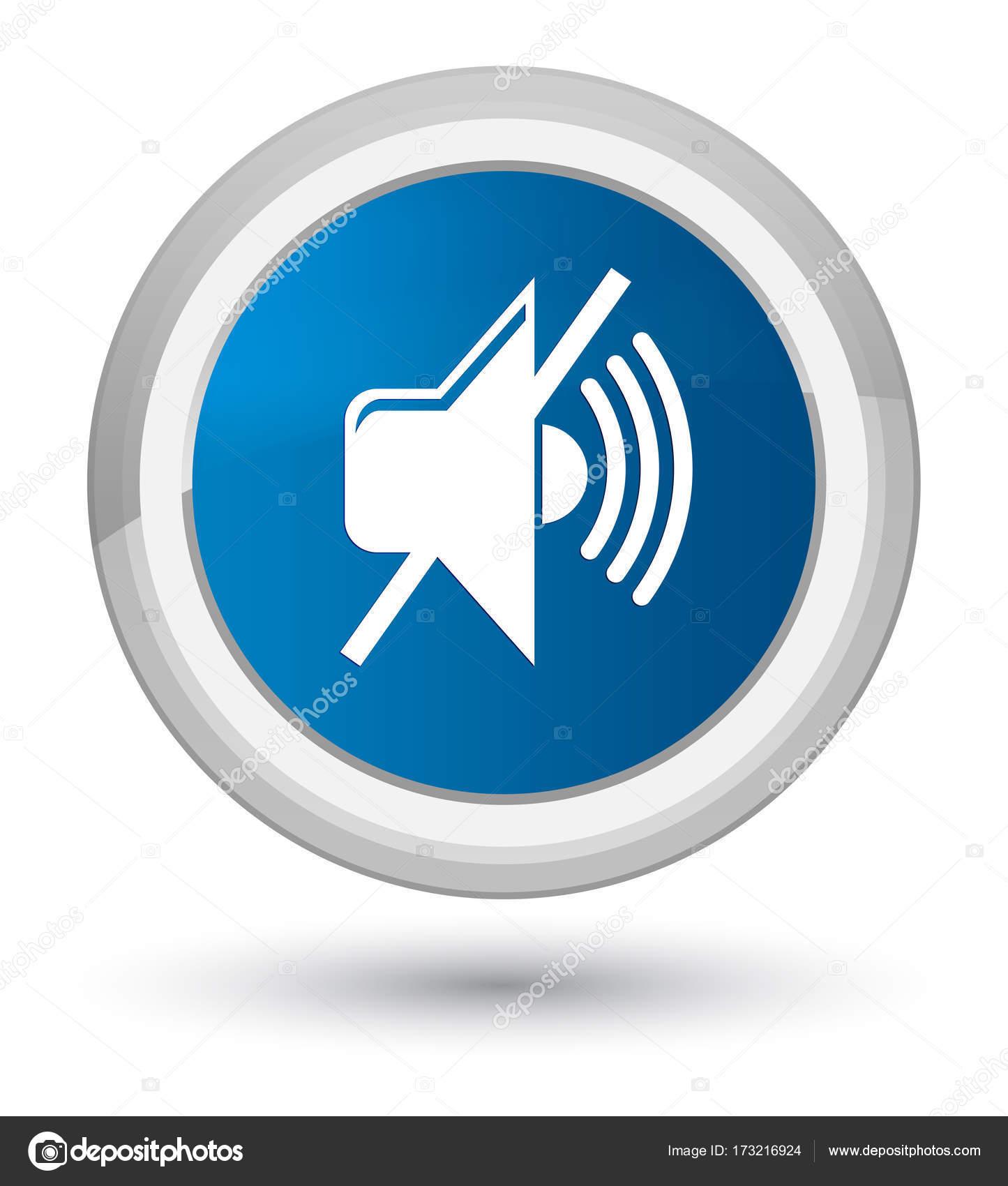 Phone Mute Icon Round Wiring Diagrams 220v3gozonegeneratorozonetubecircuitboard3ghrforwaterplant Volume Prime Blue Button Stock Photo Fr Design Rh Depositphotos Com Email