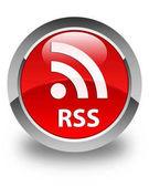 Lesklé červené kulaté tlačítko RSS