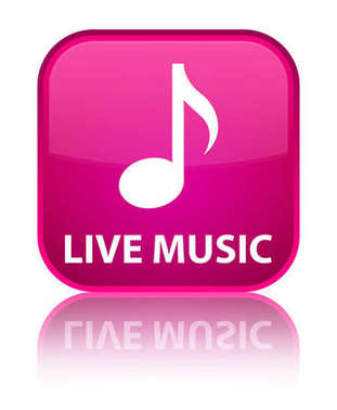 Live music special pink square button