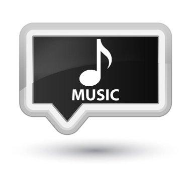Music prime black banner button