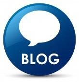 Blog (konverzaci ikona) modré kulaté tlačítko
