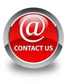 Kontaktujte nás (e-mailová adresa ikonu) lesklé červené kulaté tlačítko