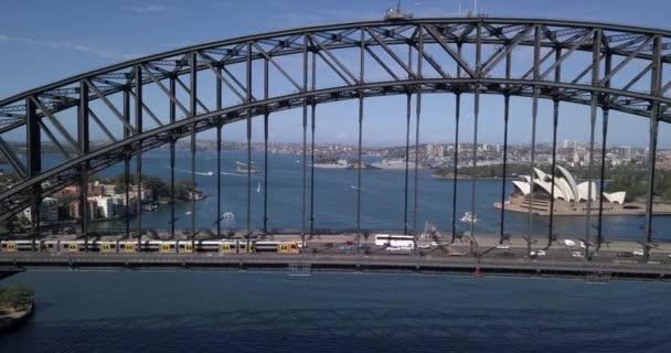 Sydney Harbour Bridge z leteckého pohledu