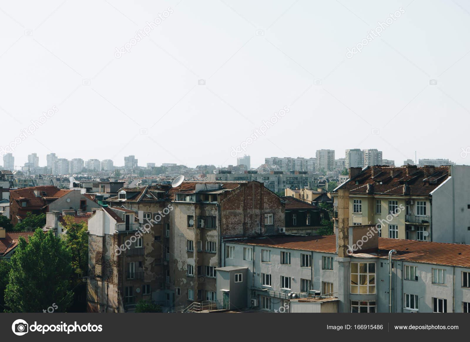 Vista Panoramica Della Città Di Sofia Bulgaria Foto Stock