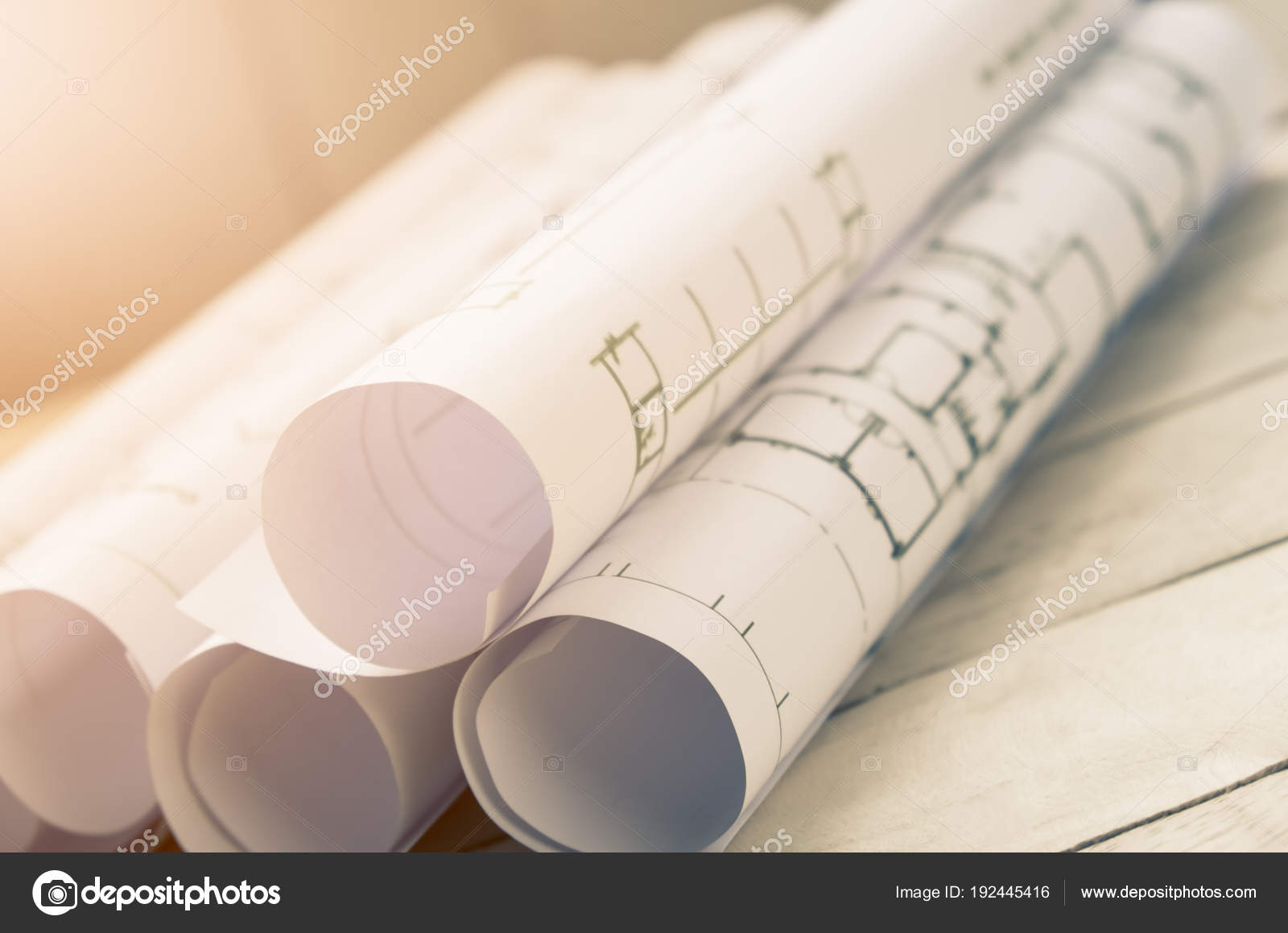 Roll blueprint paper construction planning concept table stock roll blueprint paper construction planning concept table stock photo malvernweather Image collections