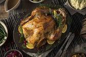 Photo Homemade Thanksgiving Turkey Dinner