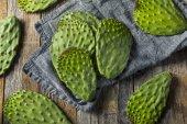 Nyers zöld szerves kaktusz levél gyümölcs