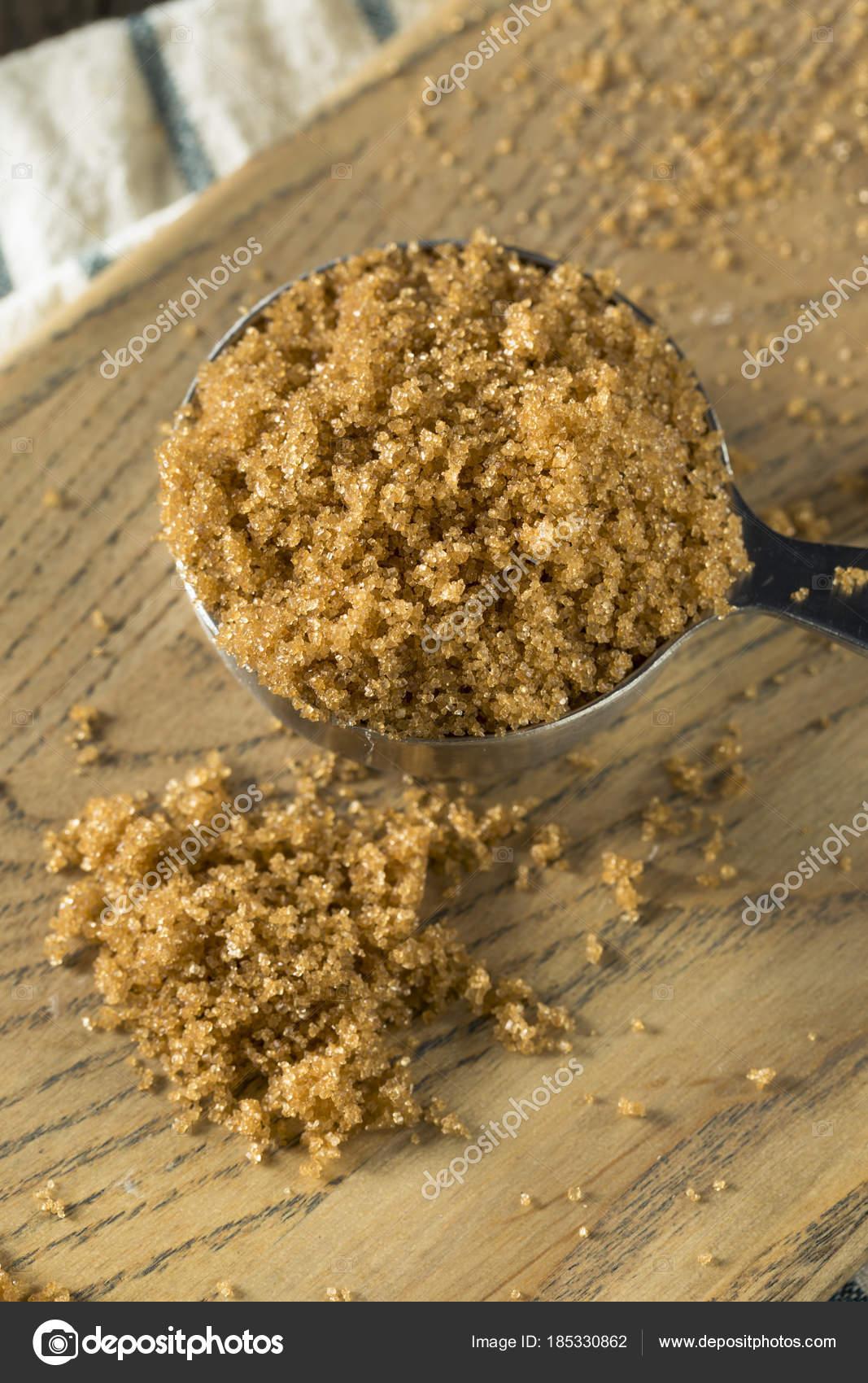 Raw Organic Light Brown Sugar U2014 Stock Photo
