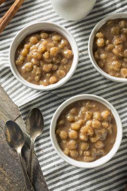 Homemade Brazlian Canjica Hominy Pudding