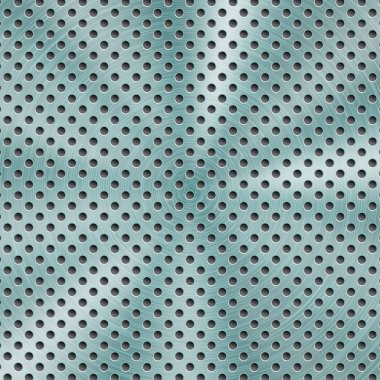 Abstract metal background with round holes