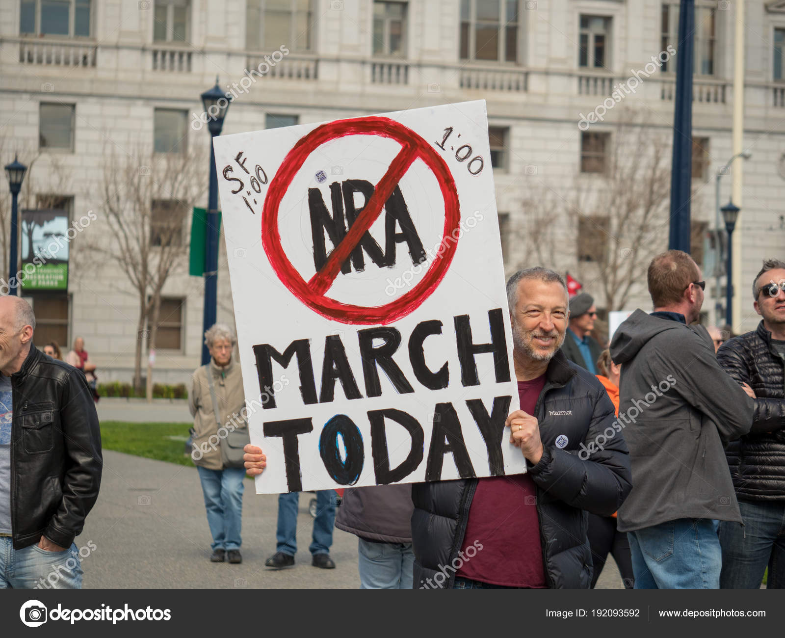 Anti-NRA sign at March for Our Lives rally in San Francisco – Stock