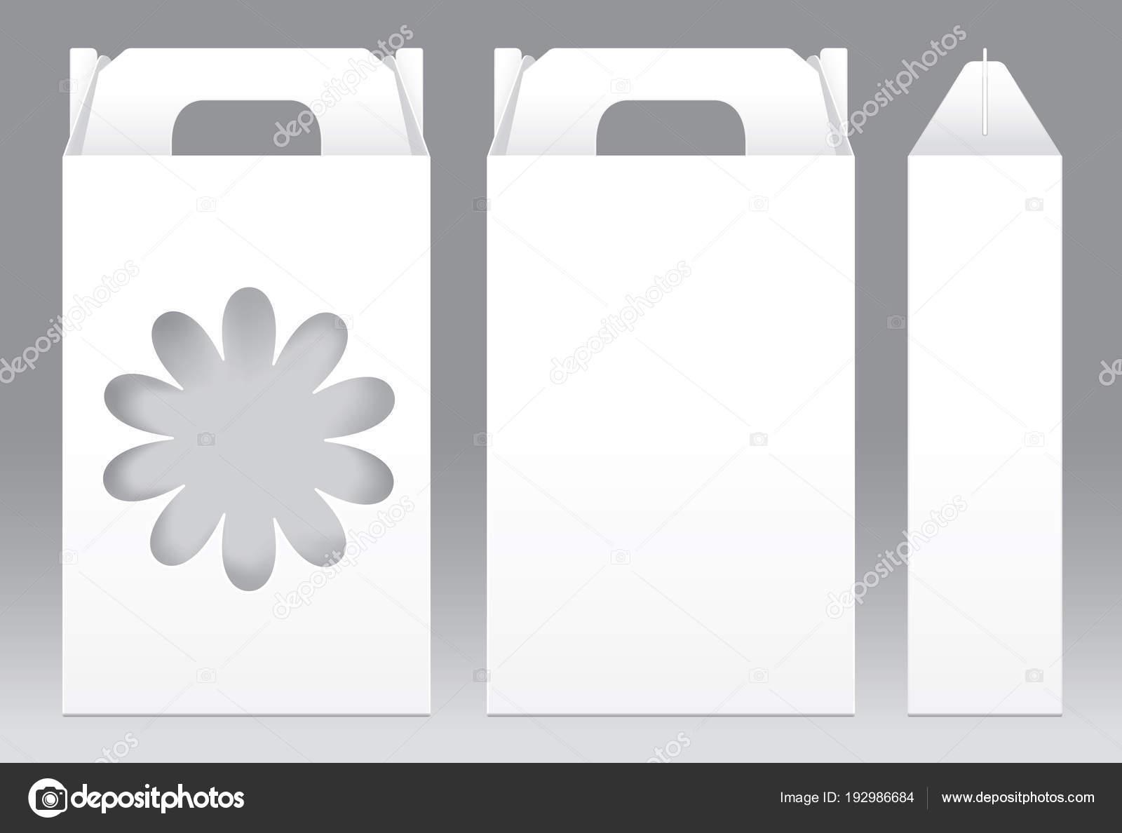 Hohen Box weiß Blume Fensterform Ausschneiden Verpackung Vorlage ...