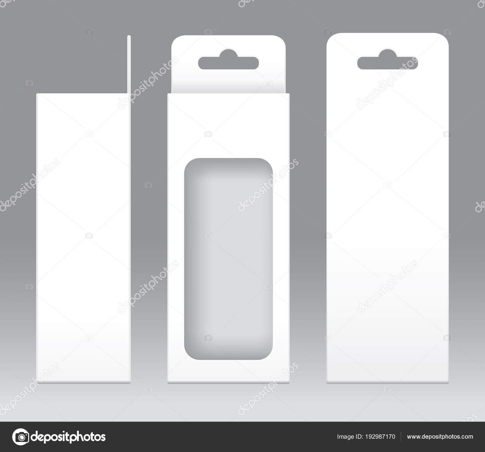 Colgante forma de ventana blanco caja corte empaque plantilla en ...