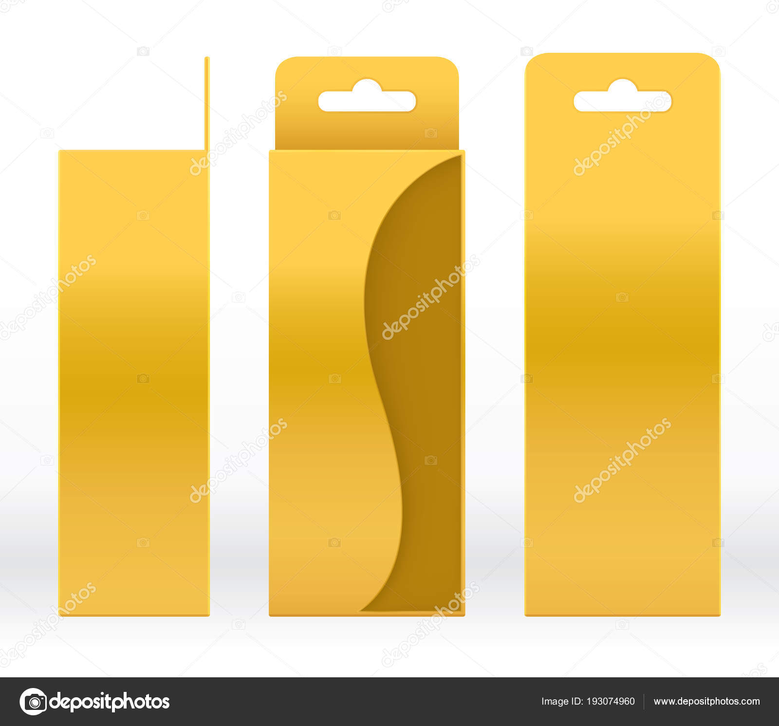 Colgante caja de oro forma de ventana corte empaque plantilla en ...