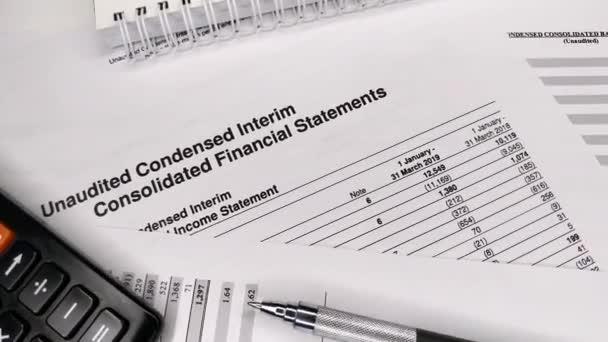 Finance statement report of balance sheet of company. Analyzing money balance. Expenditure and revenue, profit statistics