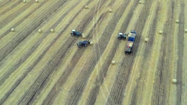 Haymaking kerek bálákká dolgozta fel a mezőn.